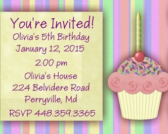 20 Personalized Birthday Party Invitation Envelopes Included