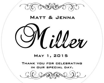 40 Black and White Wedding Stickers