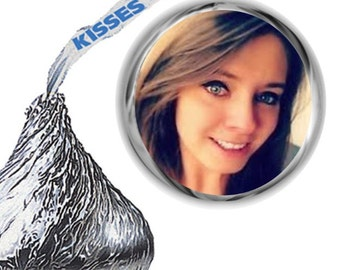 216 Add Your Photo Hershey's Kiss Labels