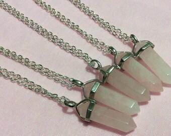 Pink Quartz Rose Quartz Necklace