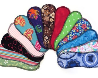 Wingless Panty Liner - Cloth Panty Liner Set - Cloth Panty Liners Wingless - Pantyliners - Cloth Pads - Set of 5 - Period - Wingless Pad