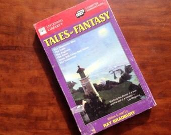 "Ray Bradbury's ""Tales of Fantasy"" 2-cassette set. Read by the author! Science fiction & fantasy."