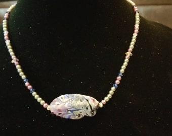 Lavender Sandstone Necklace