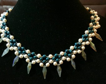Fancy Pearl and Labradorite Necklace