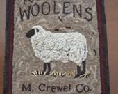 M. Crewel Co. Rug Hooking Pattern