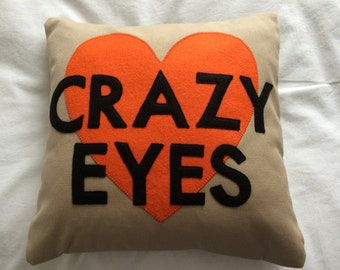 CRAZY EYES SUZANNE Love cushion. Cuddle up with Orange Is The New Black's Suzanne (the cushion version!)
