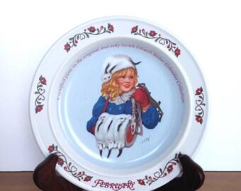 Vintage Sarah Stilwell Weber plate calendar collection February