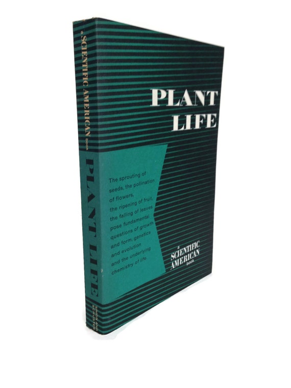 Vintage science book Plant Life by Scientific American gifts under 10