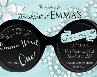 Breakfast at Tiffany's Birthday Party Invitation Digital File