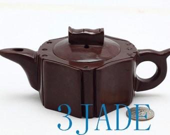 "6"" Hand Carved Natural Muyu Stone Teapot / Tea Pot  -N001055"