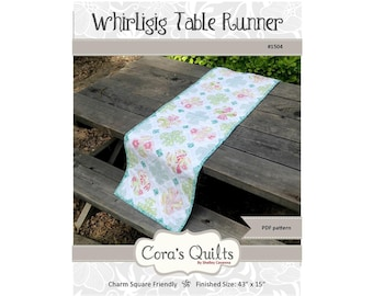 Whirligig Table Runner DIGITAL pdf Pattern by Cora's Quilts (#1504)