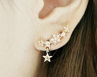 Star Cluster Stud Earrings