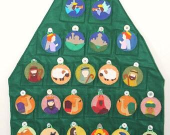 Advent Calendar Pattern // Nativity Themed Christmas Countdown Felt Pattern
