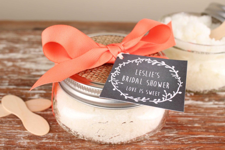 Bridal Shower Favor Sayings For Candy : oz Sugar Scrub Favors Laurel Chalkboard Tag // Bridal