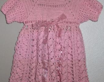 Crochet toddler dress, summer dress, party dress, girls dress 3-5 years old, dresses