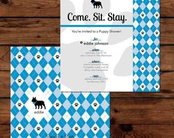 Puppy Shower Invites, French Bull Dog