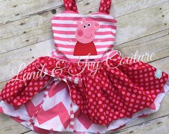 Peppa Pig Poppy Peekaboo dress, sizes6/12m-8Girl, Free Shipping