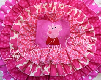 Peppa Pig -over the top- Primrose Dress, pageant/birthday/halloween dress, Free Shipping