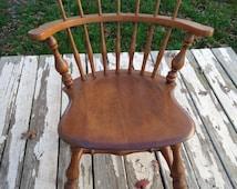 Ethan Allen Maple Comb back Nutmeg Heirloom Hardwood mates chair 10 6040 Vermont