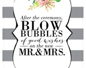 Bubble Wedding Sign
