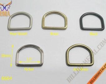 """1.5"""" Solid Brass Handbag Accessories D Ring(6664)"""