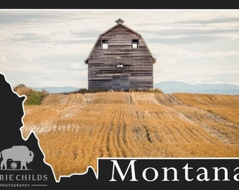 Montana Postcard- Barn with a Personality