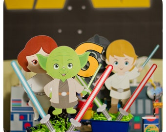 Star Wars Centerpieces; Star Wars Birthday Centerpieces; Star Wars decor; Star Wars Party; Printed, Cut, and Shipped to you!