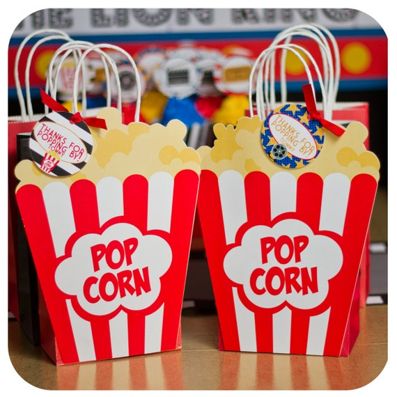Movie night gift bags party