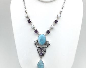 Victorian Larimar Necklace