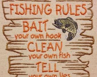 GG1507 Fishing Rules
