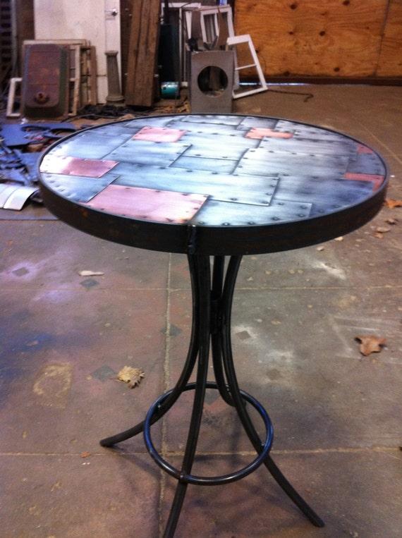 Steel table base custom any height bespoke sturdy base for for How to make a sturdy table base
