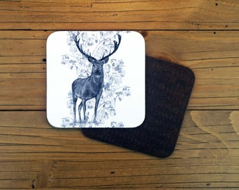 Rose Stag Coaster