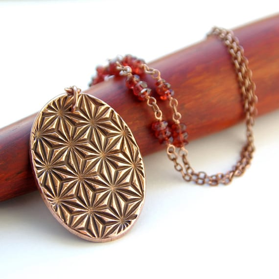 Garnet necklace th anniversary copper gifts nd