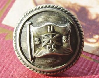 Antique Uniform Button Union Steamship Company 19th Century Shipping Button Australia New Zealand