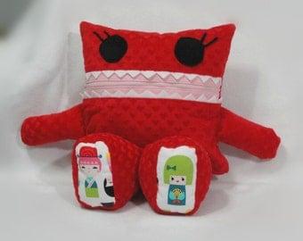 Monster Pajama Eater/ Cuddle Heart Minky/ Geisha/ Pajama Eater/ Pillow Friend/ Pajama Keeper/ Pillow/ Pajama Bag/ Stuffed Toy/ Secret Keeper