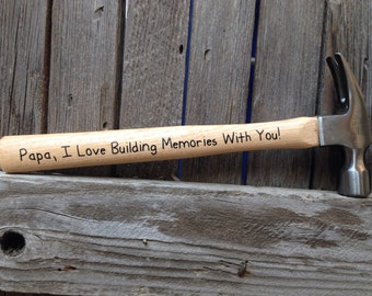 Fathers Day Gift from Son I Love Building Memories with You Hammer Gift for Dad from Kids Fathers Day Gift from Daughter Papa Daddy Grandpa