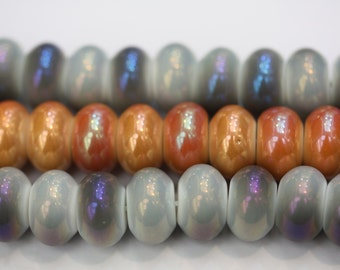 Pearly Donut Beads-Gray