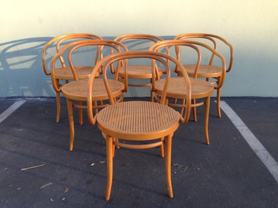 stendig thonet bentwood chairs no b9 dining chair wood cane vintage