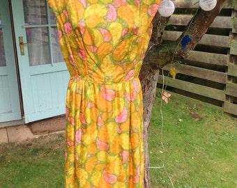 Mad men brights 60's vintage dress