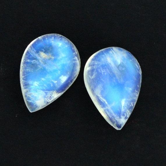 Rainbow Natural Stone : Rainbow moonstone natural gemstone piece mm pear shape