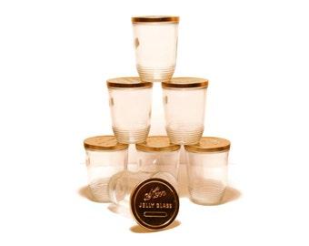 Kerr Jelly Glass Jars, Set of 7, Kitchen Decor, Canning