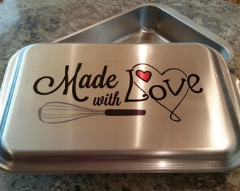 Personalized Covered 9x13 Nordic Ware Cake Pan