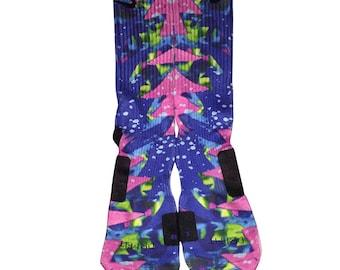 Custom Fruity Pebbles Nike Elite Crew Socks By