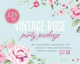 Vintage Rose Party Package