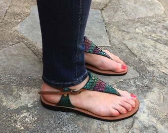 LEATHER SANDALS / Leather Handmade Sandals / Shoes Sandals / Sandals / Womens Sandals  / Strappy Sandals / Brown Leather Sandals..