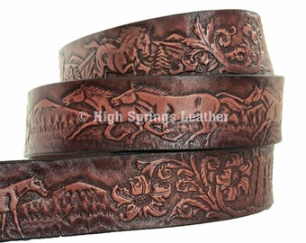 Horse Leather Name Belt