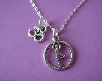 Yoga Necklace Yoga Jewelry Ohm Charm
