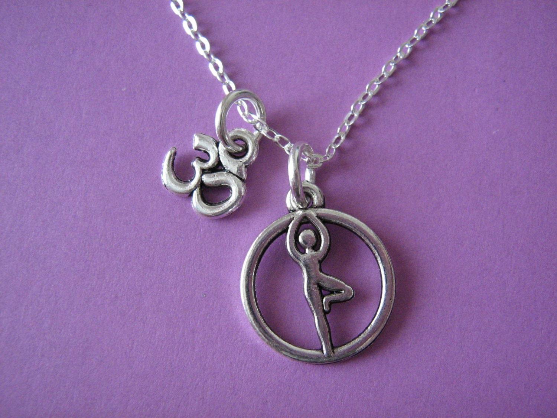 yoga necklace yoga jewelry ohm charm