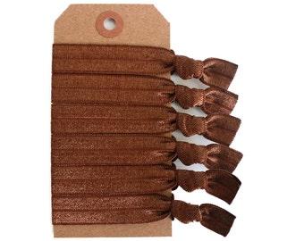 BRUNETTE Elastic Hair Ties, Ponytail Holders, Stretchy Ribbon Hair Ties, Elastic Hair Accessories, Yoga Hair Ties, Boho