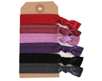 URBAN GLAM Elastic Hair Ties, Ponytail Holders, Stretchy Ribbon Hair Ties, Elastic Hair Accessories, Yoga Hair Ties, Boho